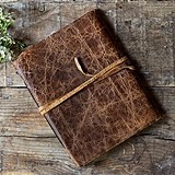 Weddingstar Rustic-Style Textured-Leather-Bound Journal/Guest Book