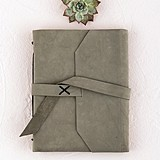 Weddingstar Industrial-Style Suede-Leather-Bound Journal/Guest Book