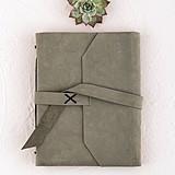 Weddingstar Industrial-Style Suede-Leather-Bound Journal/Guest Book