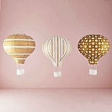 Weddingstar Hot Air Balloon Paper Lanterns in Gold & White (Set of 3)