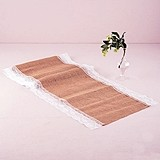 Weddingstar Natural Burlap Table Runner with Lace Edging (2 Sizes)