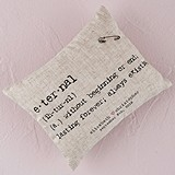 Weddingstar Personalized Natural Linen Ring Pillow with Vintage Type