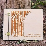"Weddingstar ""Woodland Pretty"" Personalized Wooden Guest Book"