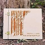 "Weddingstar ""Woodland Pretty"" Personalized Wooden Guest Book"