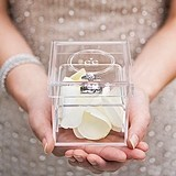 """Monogram Simplicity"" Personalized Acrylic Wedding Ring Box"