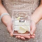 """Monogram Simplicity"" Personalized Acrylic Wedding Ring Box"