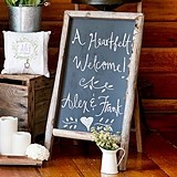 Weddingstar Self-Standing Chalkboard Sign with Rustic Wood Frame