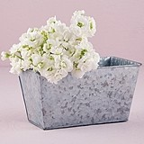 Weddingstar Large Galvanized Tin Rectangular Planter