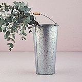 Weddingstar Large Galvanized Tin Flower Market Bucket with Handle