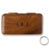 Personalized Pocket-Sized Wooden Ring Box with Geo Monogram Etching