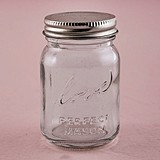 Vintage-Inspired Raised-Script Love Mini Mason Jars (Set of 6)
