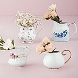 Weddingstar Vintage-Inspired Porcelain Creamer Assortment (Set of 4)