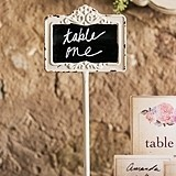 Weddingstar Tabletop Antique White Blackboard Stand