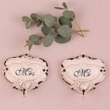 Weddingstar Shabby Chic Hook Set With Mr. and Mrs. Inscription