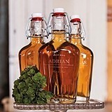 Old School Personalized Vintage-Inspired Swingtop Glass Flask