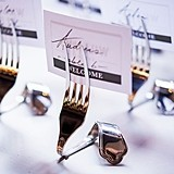 Vintage-Inspired Twisted Fork Stationery/Place Card Holders (Set of 6)