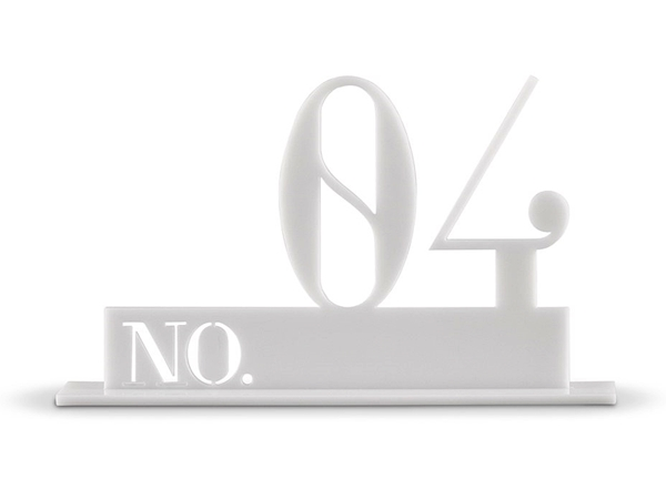 Double Digit Style White Acrylic Table Number (Numbers 1-24 Available)