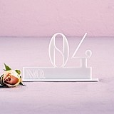 Double Digit Style White Acrylic Table Number (Numbers 1-9 Available)