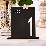 Black Acrylic Table Number In Block Style (Numbers 1-24 Available)