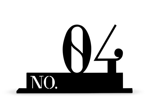 Double Digit Style Black Acrylic Table Number (Numbers 1-24 Available)