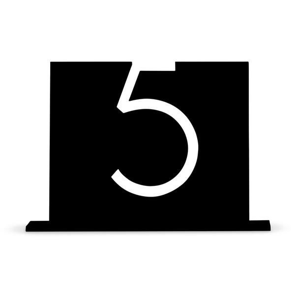 Top-Aligned Style Black Acrylic Table Number (Numbers 1-9 Available)