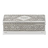 Weddingstar Personalizable Antiqued-Silver Finish Jewelry Box