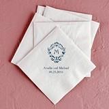 Classic Filigree Initial Foil-Printed Napkins (4 Sizes) (25 Colors)