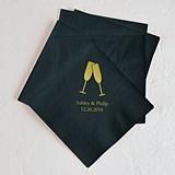 Champagne Flutes Design Foil-Printed Napkins (3 Sizes) (25 Colors)