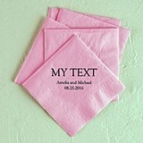 Custom Word 'My Text' Foil-Printed Napkins (3 Sizes) (25 Colors)