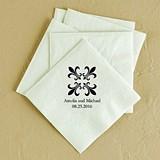 Fleur de Lis Design Foil-Printed Napkins (3 Sizes) (25 Colors)