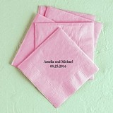 Foiled with Text Only Foil-Printed Napkins (3 Sizes) (25 Colors)