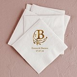 Modern Fairy Tale Initial Foil-Printed Napkins (4 Sizes) (25 Colors)