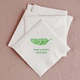 Feather Whimsy Design Foil-Printed Napkins (3 Sizes) (25 Colors)