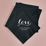 Love Signature Design Foil-Printed Napkins (4 Sizes) (25 Colors)