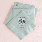 Love Stack Design Foil-Printed Napkins (3 Sizes) (25 Colors)