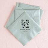 Love Stack Design Foil-Printed Napkins (4 Sizes) (25 Colors)