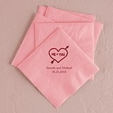 Me + You in Heart Design Foil-Printed Napkins (3 Sizes) (25 Colors)