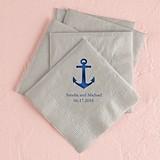 Personalized Anchor Design Foil-Printed Napkins (4 Sizes) (25 Colors)