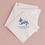 """""""Oh Baby"""" Design Foil-Printed Napkins (4 Sizes) (25 Colors)"""