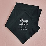 """Oh What Fun"" Foil-Printed Napkins (3 Sizes) (25 Colors)"