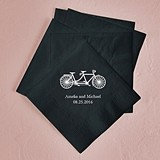 Tandem Bike Design Foil-Printed Napkins (3 Sizes) (25 Colors)