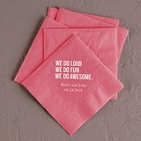We Do Awesome Design Foil-Printed Napkins (4 Sizes) (25 Colors)