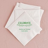 Woodland Pretty Celebrate Foil-Printed Napkins (3 Sizes) (25 Colors)
