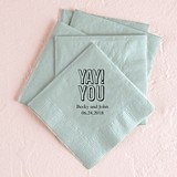 """YAY! YOU"" Design Foil-Printed Napkins (3 Sizes) (25 Colors)"