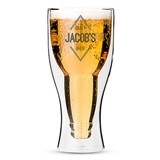 Personalizable Double-Walled Beer Glass with Diamond Emblem Printing