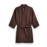 Weddingstar Waffle Weave Kimono Robe in Chocolate Brown