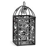 Weddingstar Small Black Metal Table Lanterns with Lovebirds Motif