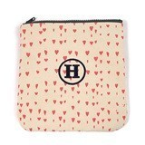Weddingstar Personalizable Carry-All Zipper Bag with Pink Hearts Motif
