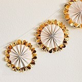 Weddingstar Gold Foil Mini Fan Party Banner (Set of 12 Fans)
