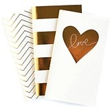 Weddingstar Gold Foil Print Mini Paper Notebooks (Set of 3 Assorted)